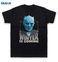 GILDAN 100 Cotton O Neck Printed T Shirt Game Of Thrones T Shirt The Night S