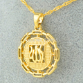 """NEW Items Islamic Pendant Necklace 18""""/24"""" Chain Jewelry Women Mohammed Allah Charm - gold filled plated arabic middle east"""