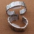 Colores mezclados de la Plata con correas de Reloj para relojes de marca de lujo de oro accesorios 22mm 24mm reloj para hombre correas pulsera plana extremo Caliente