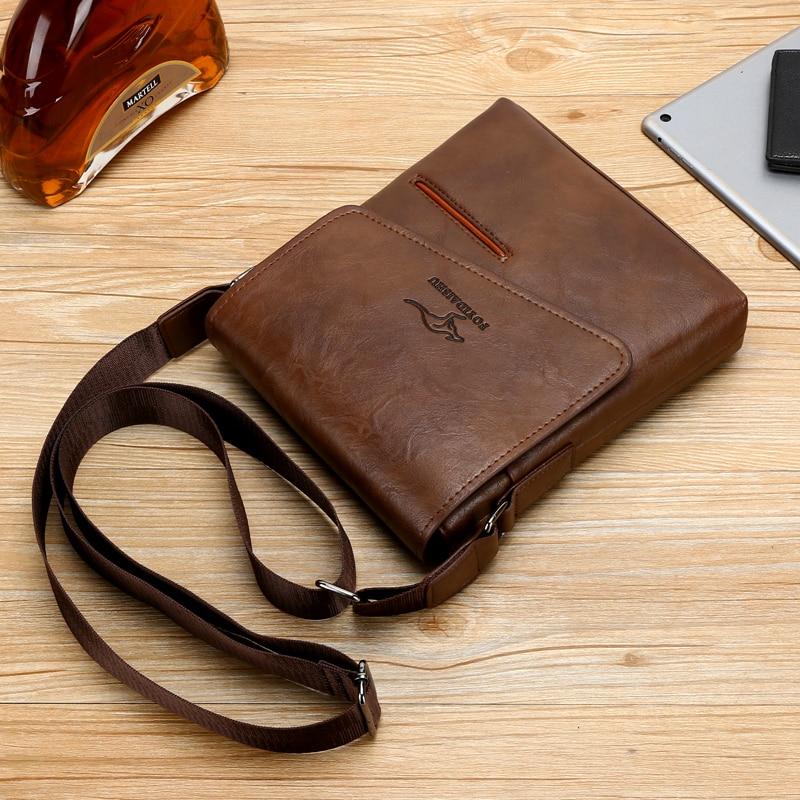 Image 5 - Summer Luxury Brand Kangaroo Messenger Bags Men Leather Casual Crossbody Bag For Men Business Shoulder Bag Male Small Handbag-in Waist Packs from Luggage & Bags