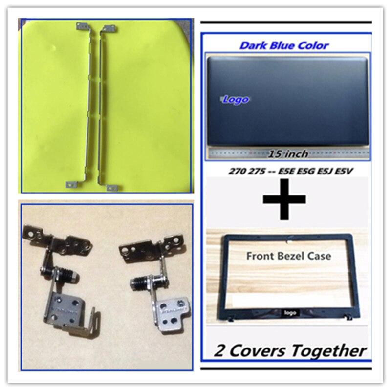 LCD Back Cover Top Case Bezel Front Screen Frame Housing For Samsung NP270 270E5E 270E5G 270E5J 275E5J 275E5G LCD Hinges Bracket