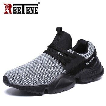 6084f694 REETENE/мужские кроссовки, летние кроссовки, ультра-высокие кроссовки из сетчатого  материала, повседневная обувь для мужчин, Уличная обувь, кро.