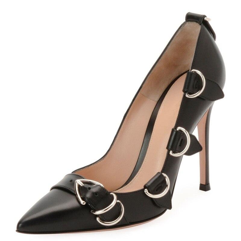 Nuevo Hebilla Oficina Señoras Delgados Las La Bombas Banquete Negro Pic Alta Zapatos Diseño As Mujeres Mujer Tacones De 2019 S04dqS