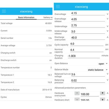 24S inteligentna płyta zabezpieczająca baterię litową BMS 72V lifepo4 Lipo 86V Li-ion APP zarządzanie Bluetooth UART PC 40A 60A 80A 100A PCB tanie i dobre opinie Olive Leaf Bateria Akcesoria 24 cells