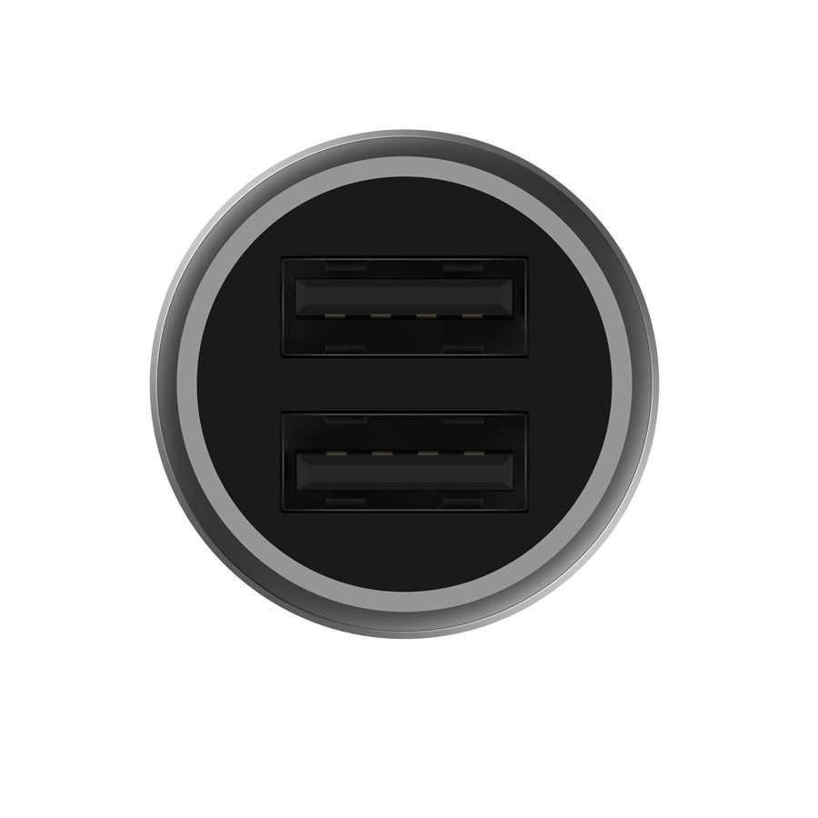 الأصلي شياو mi شاحن سيارة 18 واط تهمة سريعة mi غلاف معدني مزدوج USB ل آيفون المحمول سامسونج هواوي شياو mi اللوحي سريع تهمة