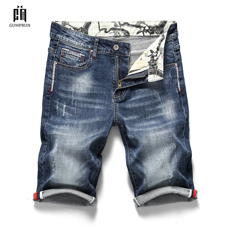 Summer Men's Stretch Short Jeans Casual Slim Stretch Jeans For Men's Slim Classic Men's Jeans Designer Shorts Casual Pants
