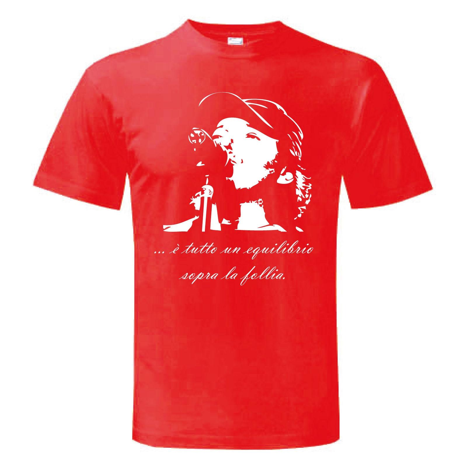 Felpa Girocollo VASCO ROSSI FOLLIA MUSICA BLASCO maglietta maglia Uomo Donna Man