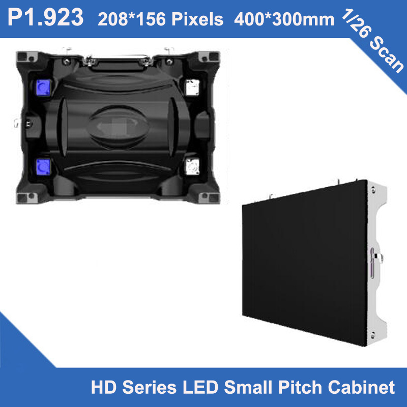 TEEHO HD Series LED Small Pitch P1.923 Indoor Diecast Cabinet 400mm*300mm*90mm 1/26 Scan Video Wall Led Screen Monitor Meeting