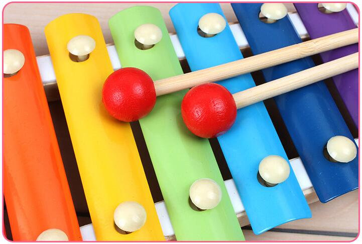 Image 3 - Colorful Children's Musical Instruments Toy Wooden Frame Xylophone Baby Educational Developmental Wooden Toys Gifts GYH-in Toy Musical Instrument from Toys & Hobbies