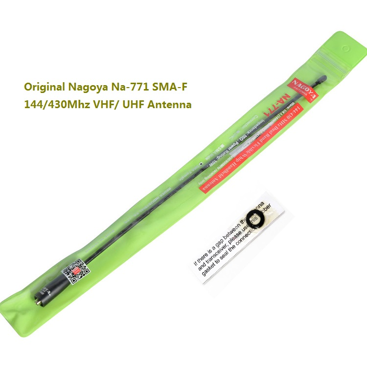 imágenes para Original nagoya na-771 sma-f 144/430 mhz vhf/uhf antena para kenwood radio de dos vías baofeng uv-5r walkie antena talkie bf-uv5r 5ra