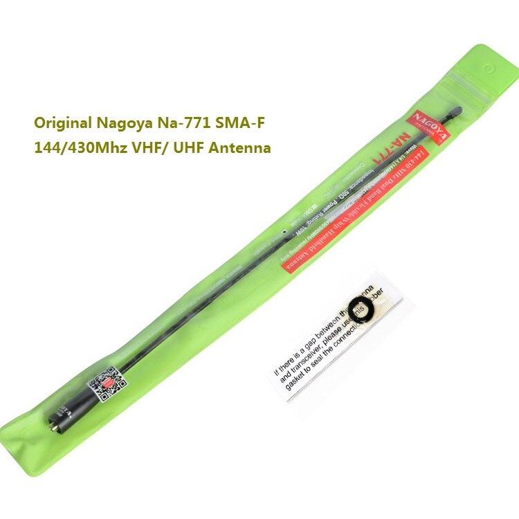 Original nagoya na-771 sma-f 144/430 mhz vhf/uhf antenne für kenwood zweiwegradio baofeng uv-5r walkie talkie antenne uv5r 5ra