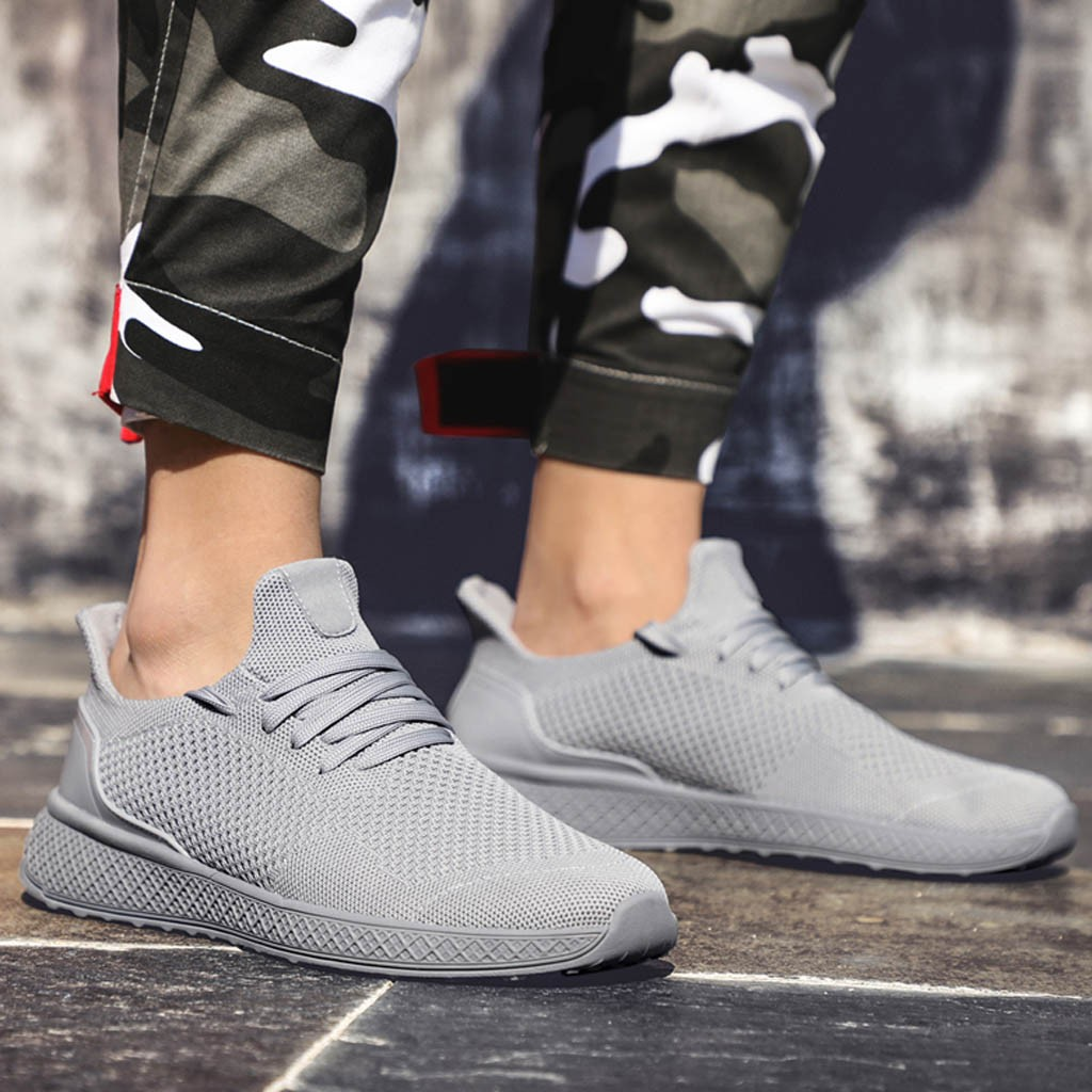 Comfortable Fashion Men Sneakers Walking Casual Shoes Breathable Lace Up Shoes Running Shoes Zapatillas Hombre Deportiva Gyf