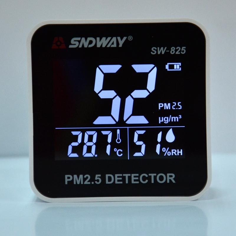 Digital Air Quality Monitor Home Car PM2.5 Air Quality Level Gas Detector Indoor Mini Temperature Humidity Meter Sensor Analyzer