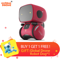 Global Drone GW A1 RC Robot for Kids Dance Music Record Dialogue Birthday Present Christmas Gifts Interactive Toy for Children