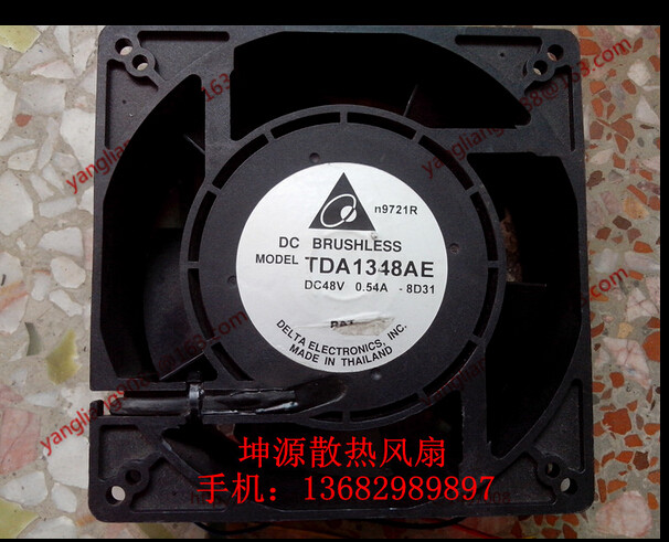 DELTA TDA1348AE, -8D31 DC 48V 0.54A, 120x120x38mm 4-wire Server Square Cooling Fan delta 12038 12v cooling fan afb1212ehe afb1212he afb1212hhe afb1212le afb1212she afb1212vhe afb1212me