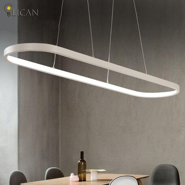 LICAN Neue Ideal Kreative Oval Moderne Led Pendelleuchten Fr Esszimmer Wohnzimmer Bar Kche Hngen Pendelleuchte Leuchten