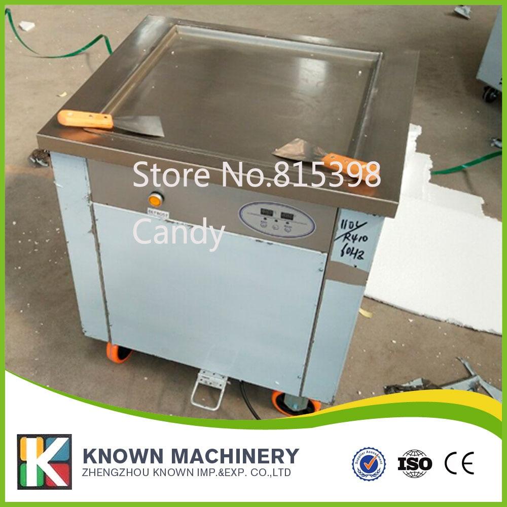 DHL free shipping SINGLE POT Stainless steel Ice Pan Machine roll ice cream maker крабы креветки в челябинске купить продам