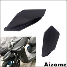 1 пара мотоцикл Winglet аэродинамический комплект крыла для Yamaha Suzuki Kawasaki Honda Nmax Aerox 155 PCX Vario CBR черный комплект крыла