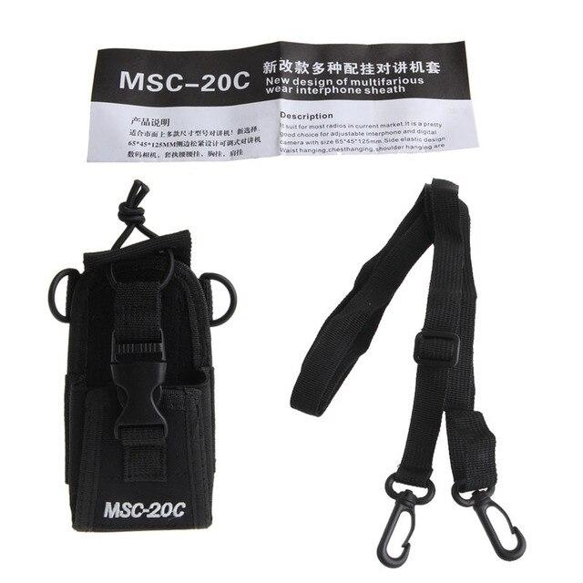 MSC-20C Nylon Radio Case Bag Holder Pouch For Baofeng UV-B5 UV82 UV8 D GT-3 UV5R