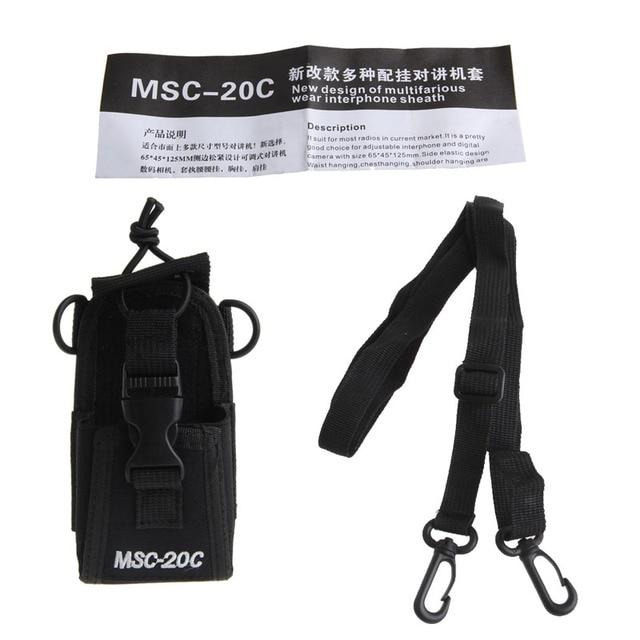 MSC-20C Nylon Đài Phát Thanh Bag Trường Hợp Chủ Pouch Cho Baofeng UV-B5 UV82 UV8 D GT-3 UV5R