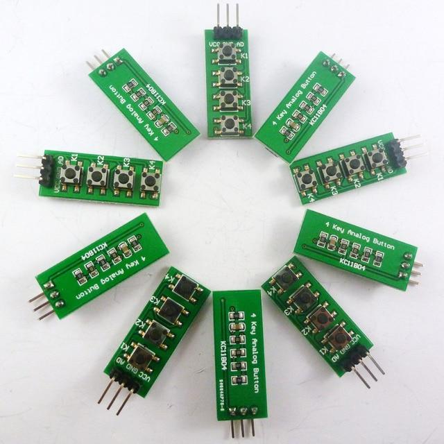 10 шт с UNO MEGA2560 пример кода! 3,3 V 5V 4 кнопки 1 аналоговый выход AD Клавиатура Кнопка для Arduino