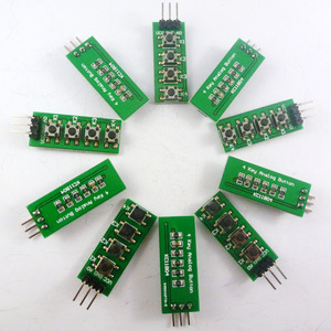 Image 1 - 10 Uds., con UNO MEGA2560, código de ejemplo Botón de teclado de salida analógica para Arduino, 3,3 V, 5V, 4 botones, 1