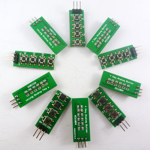 Kc11b0410 10pcs With Uno Mega2560 Example Code 33v 5v 4 Buttons