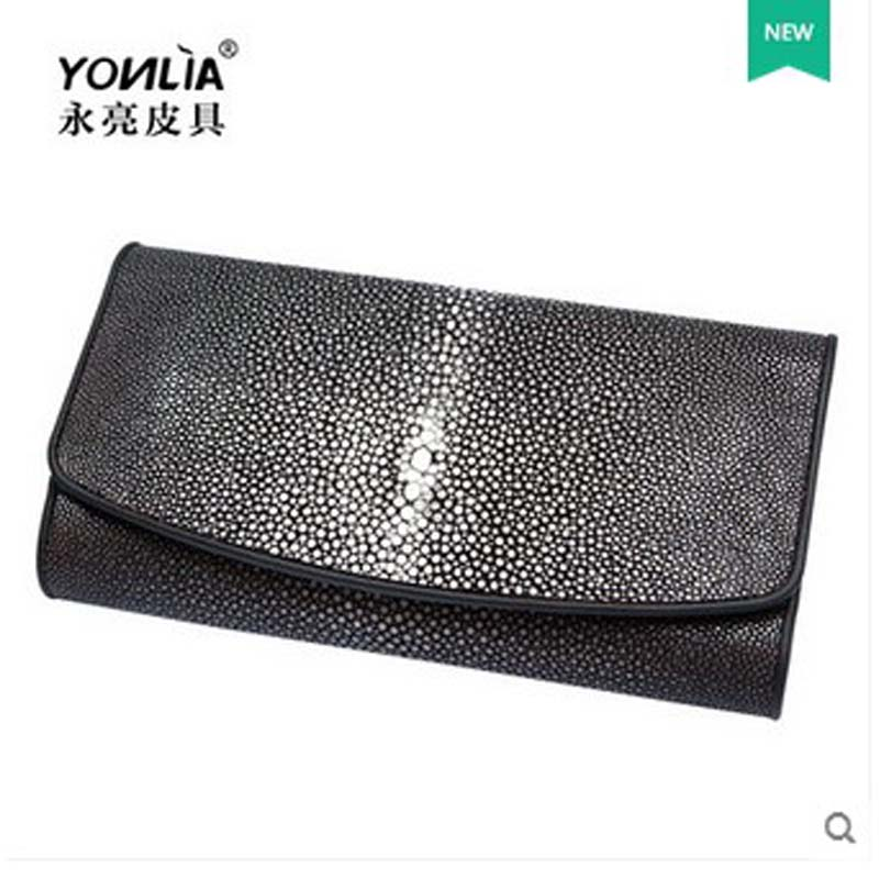 yongliang The New Whole ground beads Long wallet pearl fish skin wallet leather lady wallet the high ground imperials 1