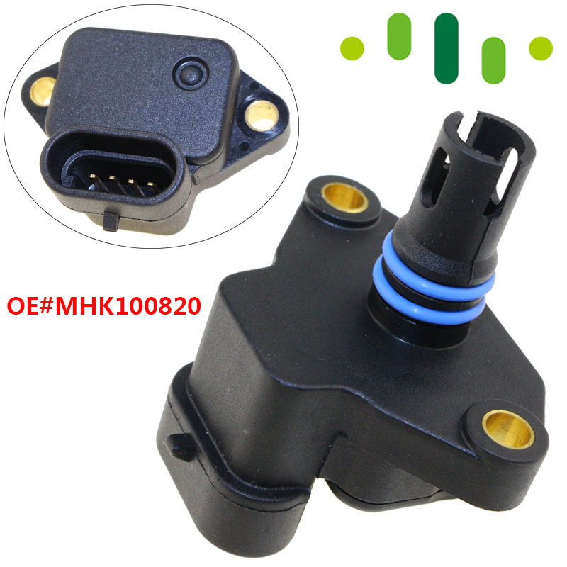 Intake Air Manifold Absolute Boost Pressure MAP Sensor For Land Rover Discovery Freelander MG MINI MHK100820 MHK100820LIntake Air Manifold Absolute Boost Pressure MAP Sensor For Land Rover Discovery Freelander MG MINI MHK100820 MHK100820L