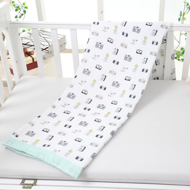 Autumn Baby Blanket Multifunctional Double Layers Baby Bamboo Blanket Newborn Baby Bamboo Cotton Muslin Swaddle цена