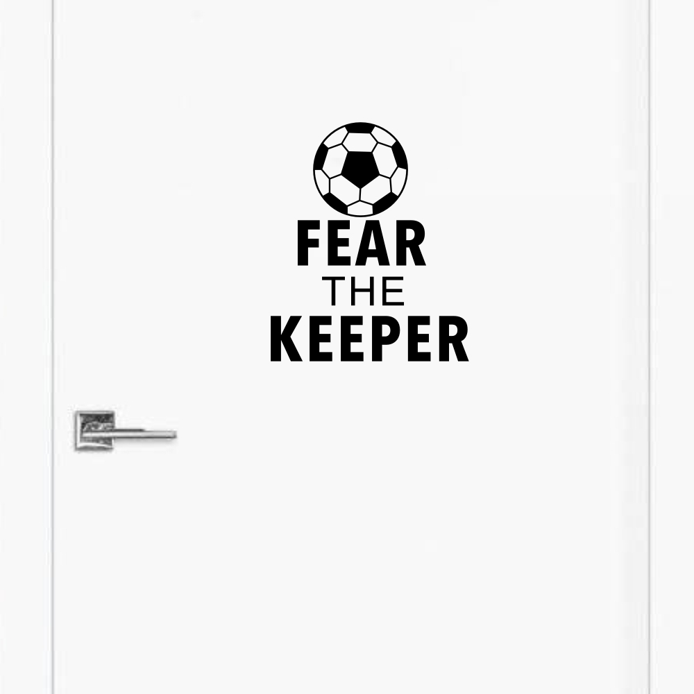 Wall Quotes Fear The Keeper Vinile Adesivo Soccer Sport Art Sticker - Home decor
