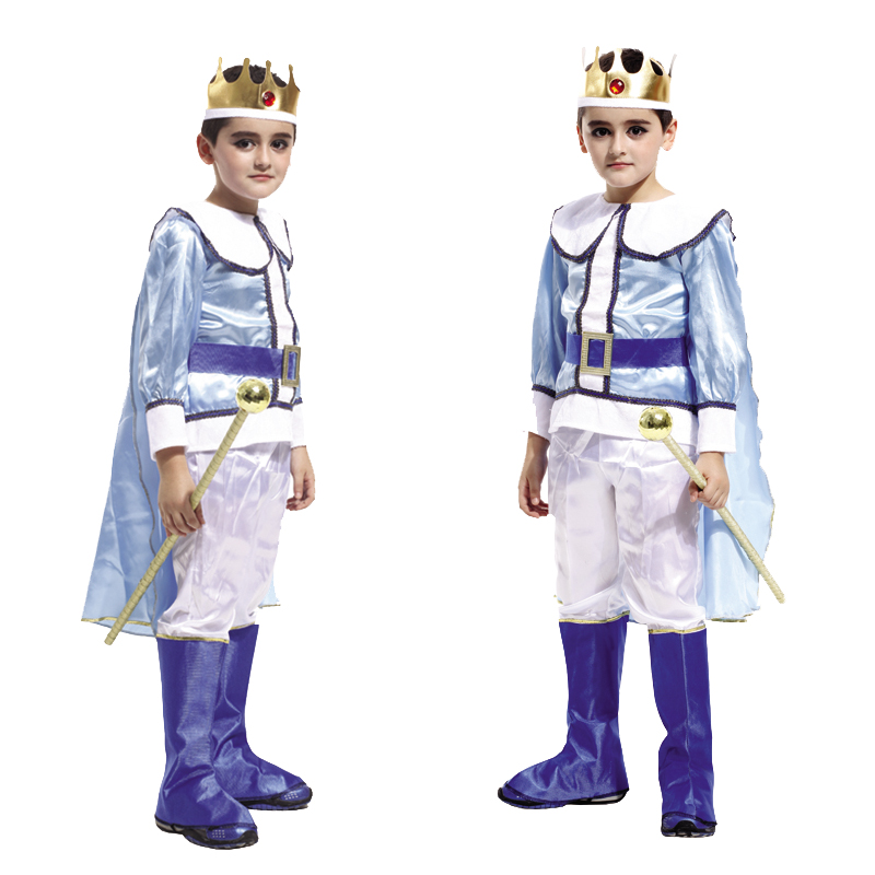 Holiday Prince with crown Cosplay Costume for Children The King Costumes Children's Day Boys Fantasia European royalty clothing