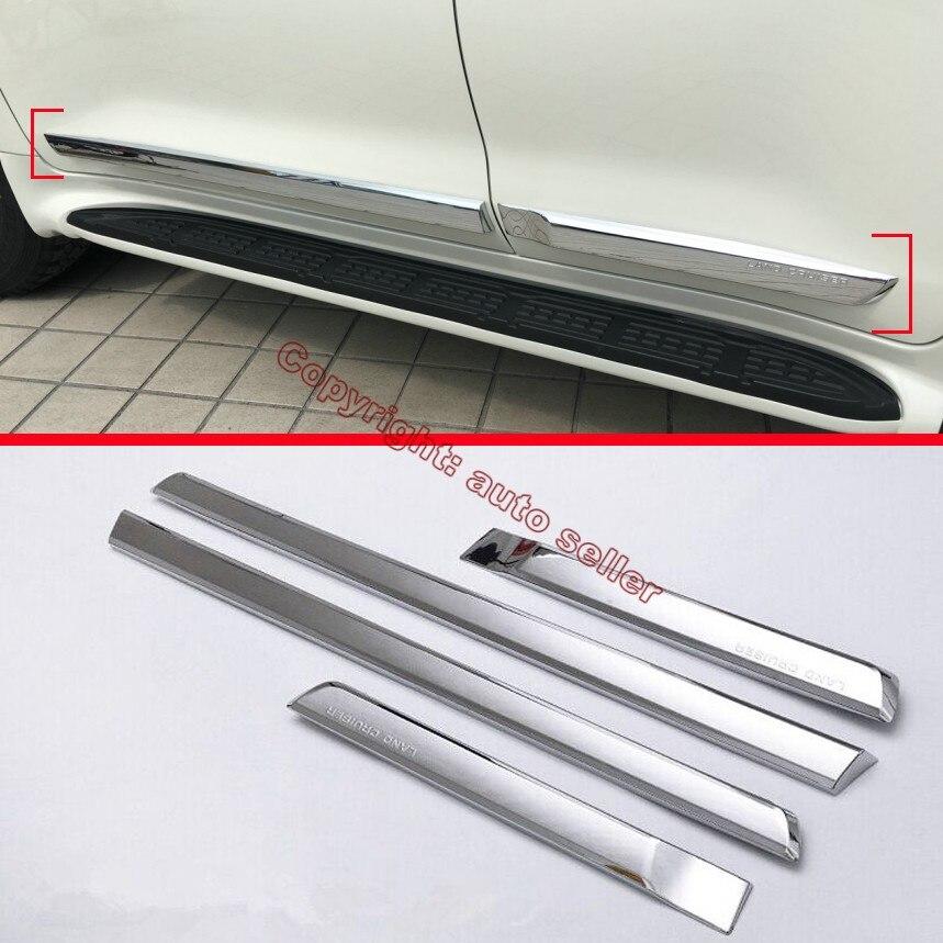 ABS Хромированная Боковая дверь тела формовочная отделка для Toyota Land Cruiser 2016 2017 2018