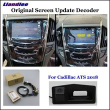 Liandlee Original Screen Update System For Cadillac ATS 2018 Rear Reverse Parking Camera / Digital Decoder / Rear camera liandlee original screen update system for mercedes benz gle class rear reverse parking camera digital decoder rear camera