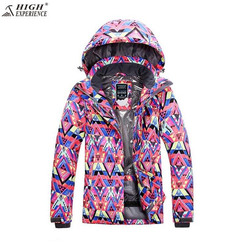 High Experience Waterproof Snowboard Jacket Outdoor Mountain free shipping Sport Coat Brand Ski Suit Women Winter Ski Jacket цена 2017