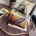 Panelled Ladies hand Boston bags Tassel handbag women designer bag famous brand women bag 2016 bolsos sac a main femme de marque