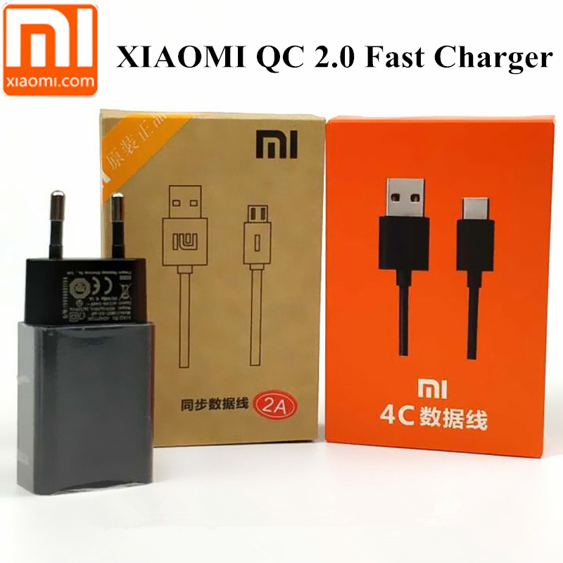 Original Xiaomi Redmi 5 Plus Charger QC 2.0 Quick fast Charge Usb Wall Power Adapter Charging 4X Note 4 4A 5A MI A1 MIX 2 4 4c