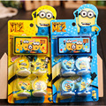 4pcs/set Despicable Me Minions Toys Minions Seal Stamp Action Figure Toys Hobby Education For Boys Girls Children Kids Gifts