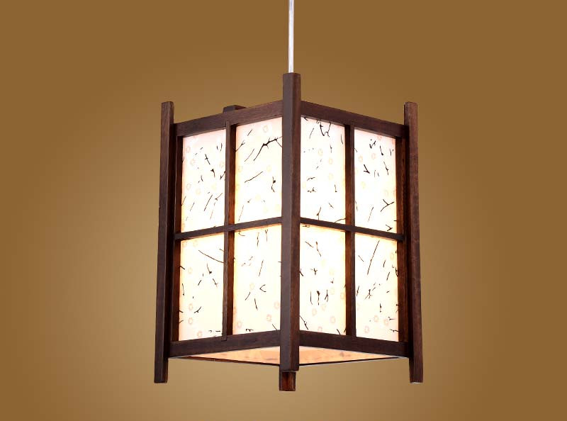 Japanese Pendant Lamp Washitsu Tatami Decor Wooden Lamp For Restaurant Living Room Hallway Japan Vintage Lighting and lantern japanese style indoor lighting ceiling lights washitsu tatami decor shoji lamp wood and paper restaurant living room hallway