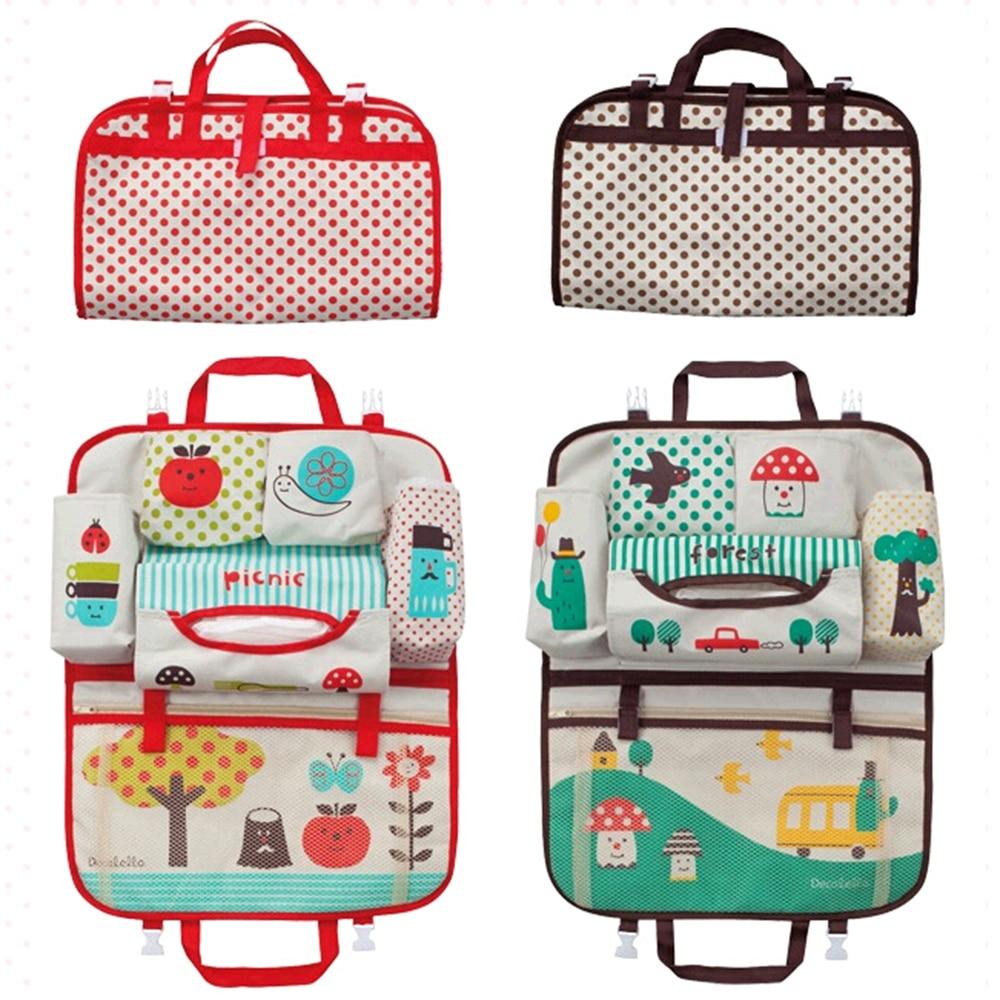 Universal Stowing Tidying Mummy Bag Storage Hanging Bag for kids Carriage Baby Diaper Car Back Seat Organizer Car-styling