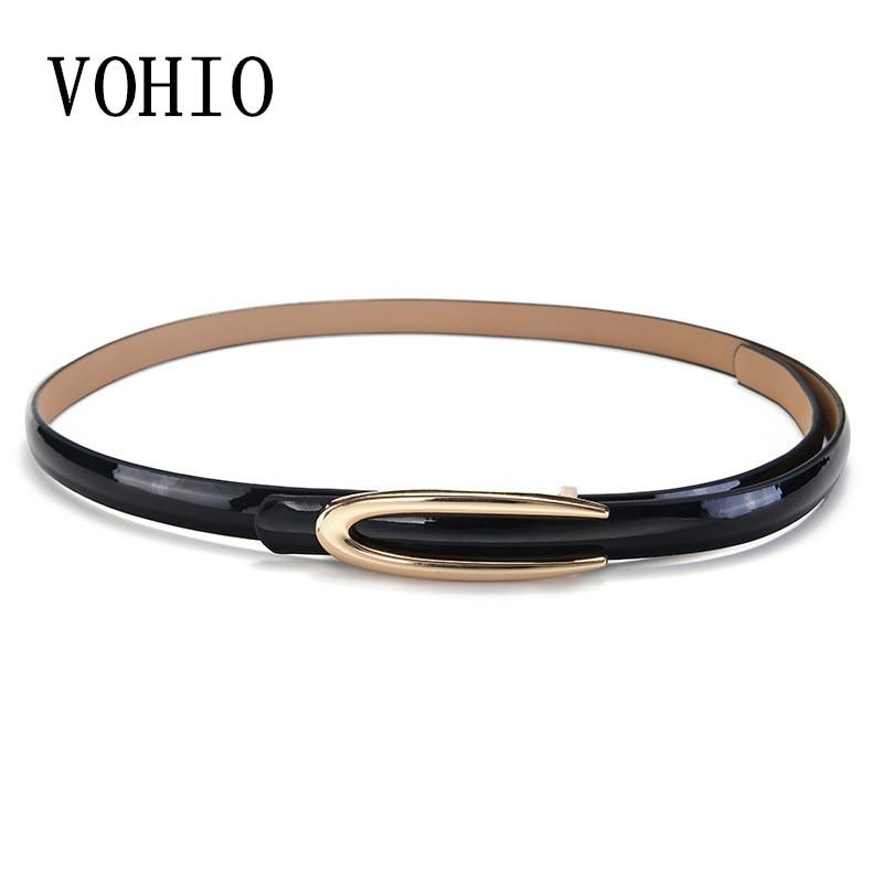 2018 Fashion designer 1.4 wide women's belts Red fine leather belt 110cm long Black red four color belt woman new skirt belt