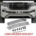 Aço inoxidável Grade Dianteira Para Carros Capa Para Toyota Land Cruiser 200 Acessórios 2012-2017