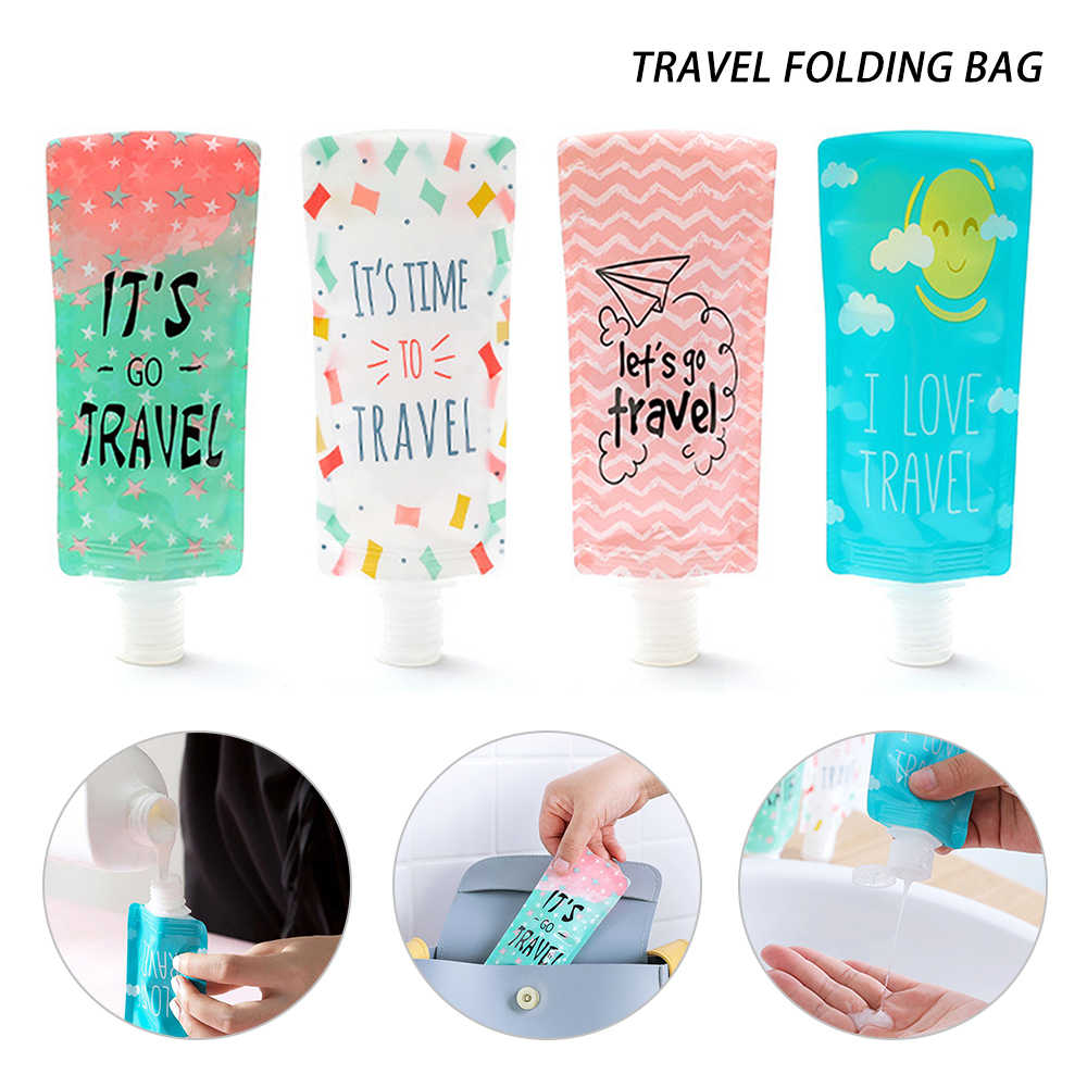 Urijk 100ml Mini Travel Lotion Bag Hands Sanitizer Portable Shower Gel For Shampoo Sub Bottle Facial Cleanser Liquid Dispenser