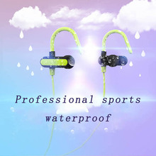 Smart Bluetooth headphones touch key control ear hook style earphones waterproof stereo noise cancelling sport music headsets ggmm cuckoo three key control dynamic stereo in ear earphones wine red