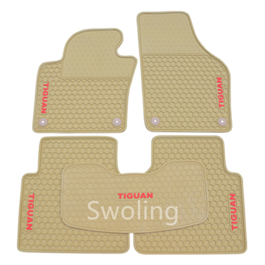 For Volkswagen Tiguan 2011-2013 High Quality Waterproof Anti Skip Latex Durable Carpets Special Rubber Car Floor Mats