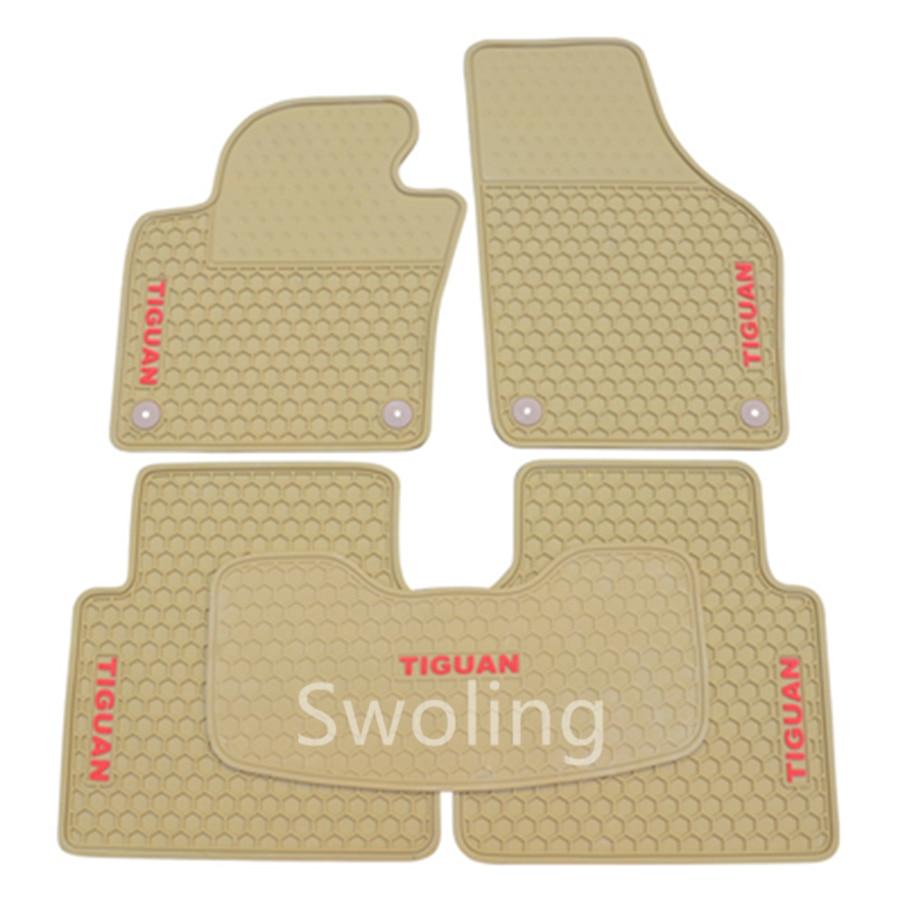 For Volkswagen Tiguan 2011-2013 High Quality Waterproof Anti Skip Latex Durable Carpets  ...