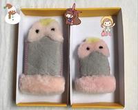 Fabriek direct selling schapenwol bont kind warme handschoenen winter nodig bont handschoenen beste cadeau voor kinderen