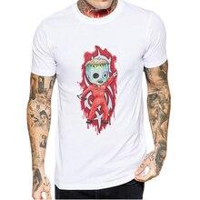Hot Sale Fashion Men Tee Shirt Creative Printed Slipknot T-Shirt High Quality Cotton White Brand Tops Mens Short Sleeve T Shirts цена и фото