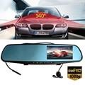Full HD1080P 4.3Inch Car Camera Rearview Mirror Auto DVR Dual Lens Dash Cam Recorder Video Registrator Camcorder Night Vision