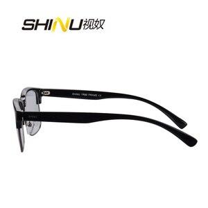 Image 3 - SHINU marki progresywne wielu ogniskowa obiektywu okulary do czytania pół ramką zobacz w pobliżu dalekiego + 100 + 150 + 200 + 250 + 300 + 350 SH018